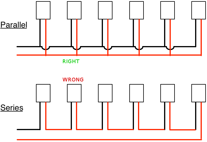 wiring bulbs in parallel circuit diagram template